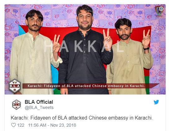 Nhóm ly khai Pakistan tuyên bố nổ súng vào lãnh sự quán Trung Quốc tiết lộ động cơ  - Ảnh 1.