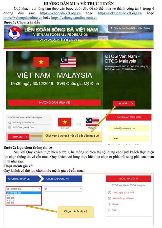 Hướng dẫn chi tiết cách mua vé trận chung kết AFF Cup 2018 Việt Nam vs Malaysia - Ảnh 1.