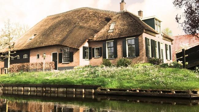 Ngôi làng không có đường đi, nhà nào nhà đó tràn ngập hoa tươi, đẹp như trong cổ tích - Ảnh 6.