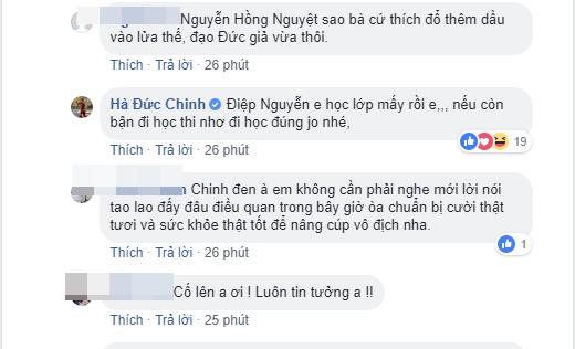Facebook chính chủ của Hà Đức Chinh liên tục đáp trả chỉ trích của người hâm mộ - Ảnh 3.