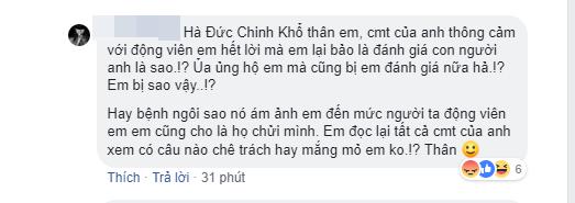 Facebook chính chủ của Hà Đức Chinh liên tục đáp trả chỉ trích của người hâm mộ - Ảnh 7.