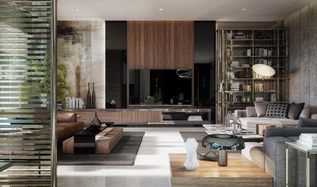Phòng khách đẹp hiện đại, hấp dẫn người nhìn  - Ảnh 4.