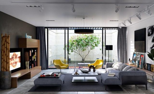 Phòng khách đẹp hiện đại, hấp dẫn người nhìn  - Ảnh 9.