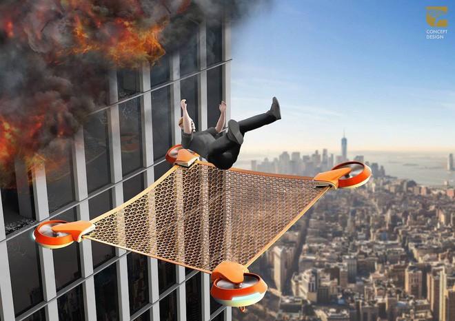 Lưới cứu nạn không người lái Net Guard - giải pháp cho những sự cố hỏa hoạn trên cao - Ảnh 3.