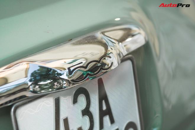 Fiat 500 xanh bạc hà - Xe hiếm chơi màu độc tại Hà Nội - Ảnh 11.
