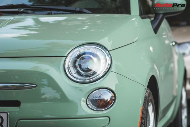 Fiat 500 xanh bạc hà - Xe hiếm chơi màu độc tại Hà Nội - Ảnh 3.