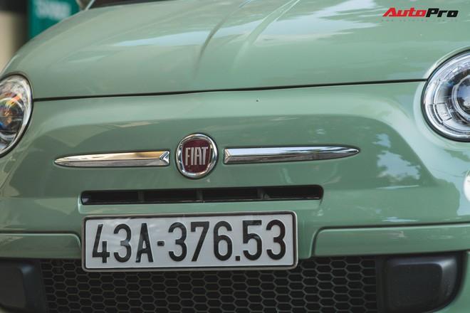 Fiat 500 xanh bạc hà - Xe hiếm chơi màu độc tại Hà Nội - Ảnh 4.