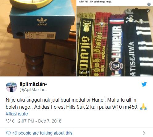 Fan Malaysia bán giày, bán khăn, bán cả... xe máy để sang Việt Nam xem CK AFF Cup - Ảnh 2.