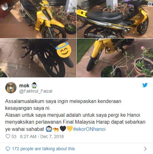 Fan Malaysia bán giày, bán khăn, bán cả... xe máy để sang Việt Nam xem CK AFF Cup - Ảnh 3.