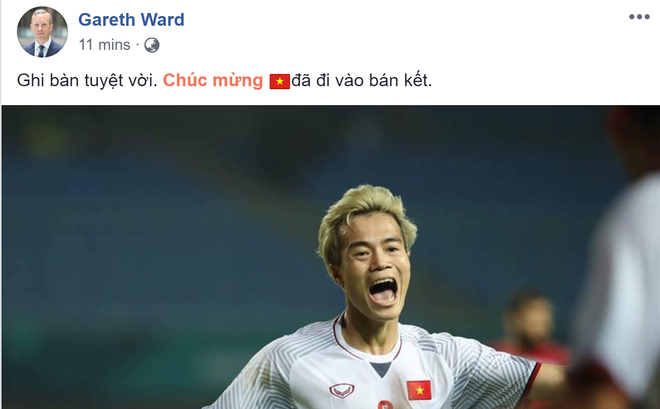 Việt Nam vào chung kết AFF Cup: Hàng triệu CĐV vỡ òa, Đại sứ Anh tại VN háo hức chung vui - Ảnh 4.