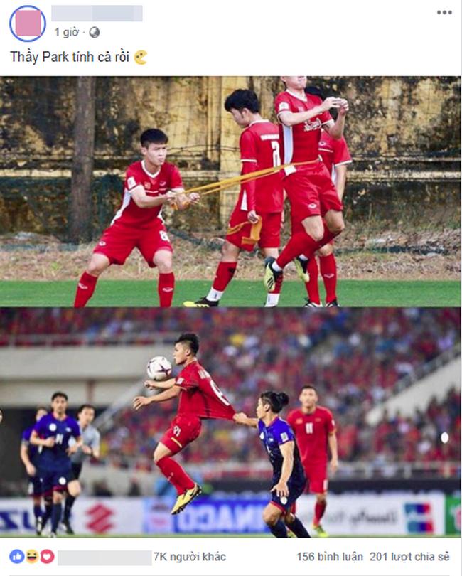 Khoảnh khắc Quang Hải bị cầu thủ Philippines kéo áo được chia sẻ mạnh, nhưng bài tập tiên tri của thầy Park mới gây chú ý - Ảnh 1.