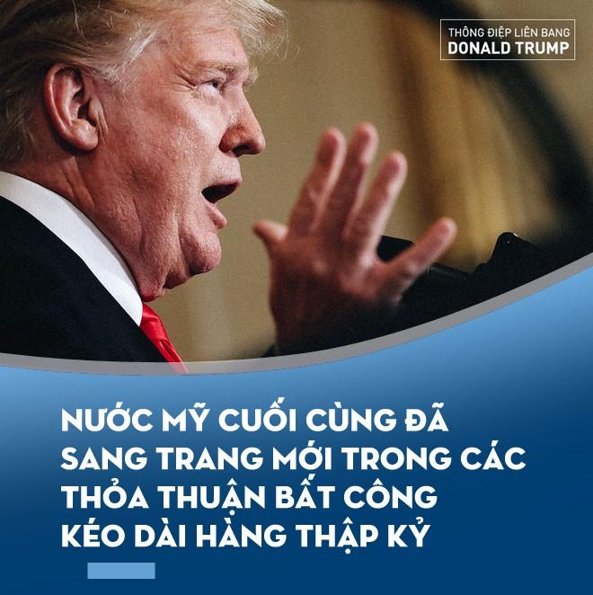 Thông điệp Liên bang của ông Trump: Cuộc chiến khách mời và 3 năm nhớp nhúa của nước Mỹ - Ảnh 3.