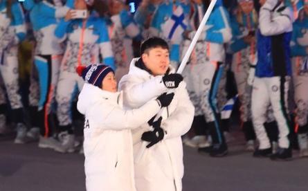 VĐV phất lá cờ thống nhất liên Triều: