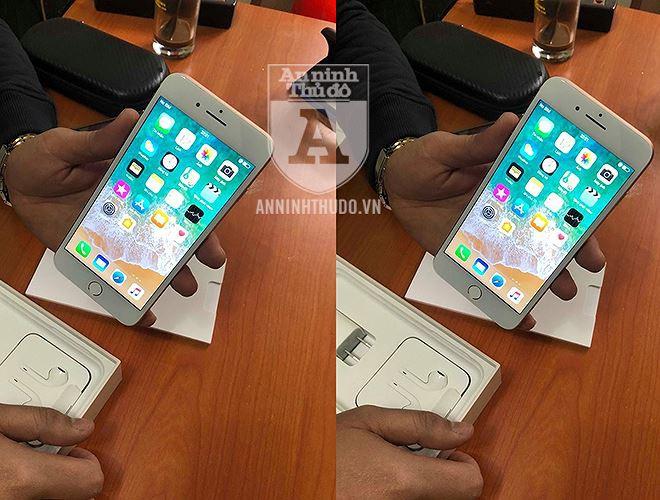 Vụ nữ học viên y tế lừa đảo, đánh tráo iPhone ở cổng viện: Chiếc iPhone giả giống thật cỡ nào? - Ảnh 1.