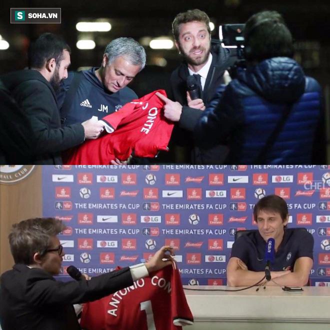 HLV Conte cạn lời với món quà quý Mourinho đích thân ký tặng - Ảnh 2.