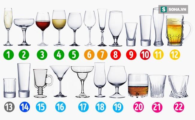 Đừng là người ít hiểu biết khi không phân biệt được ly nào uống sâm panh, ly nào uống rượu - ảnh 1