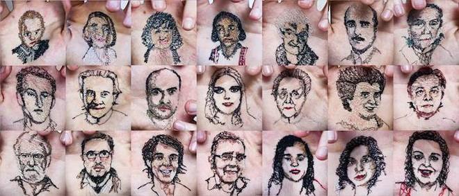 Xuyên chỉ lên chính da tay để tạo nên những bức hình nghệ thuật ám ảnh người xem - Ảnh 11.