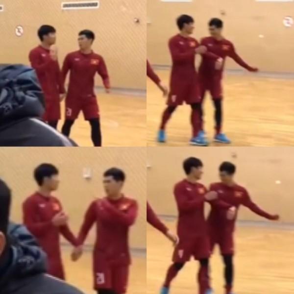 Những khoảnh khắc ngoài sân cỏ giữa các cầu thủ U23 Việt Nam khiến CĐV ghép đôi nhiệt tình - Ảnh 8.