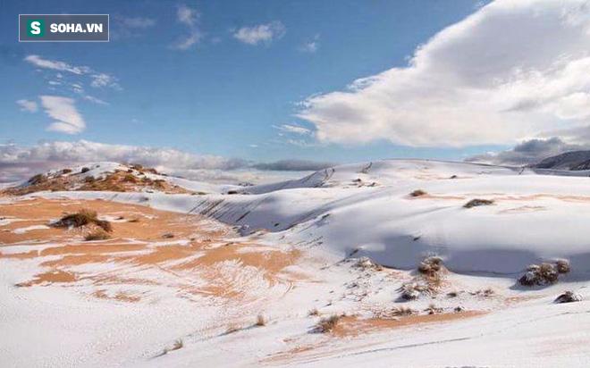 Kỳ lạ: Tuyết phủ trắng sa mạc Sahara lần thứ 2 trong vòng 1 tháng qua - ảnh 1