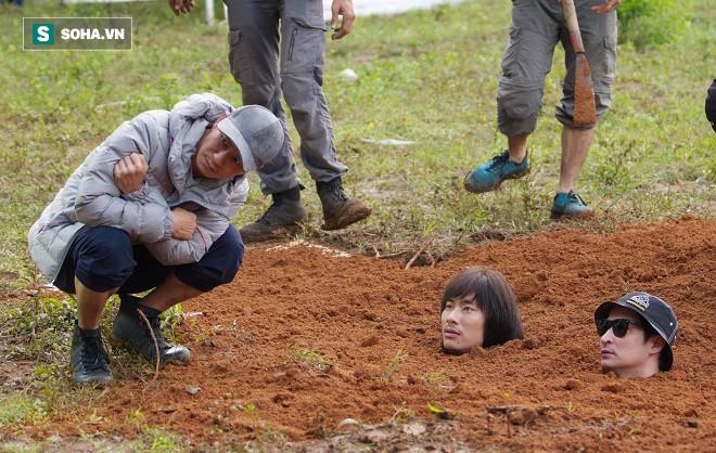 Huy Khánh, Kiều Minh Tuấn bị chôn sống trên phim trường Lật mặt 3 - Ảnh 3.