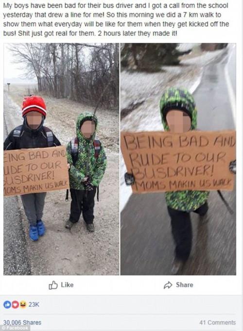 Bà mẹ phạt 2 con đi bộ 7km vì cư xử hỗn gây tranh cãi - Ảnh 1.