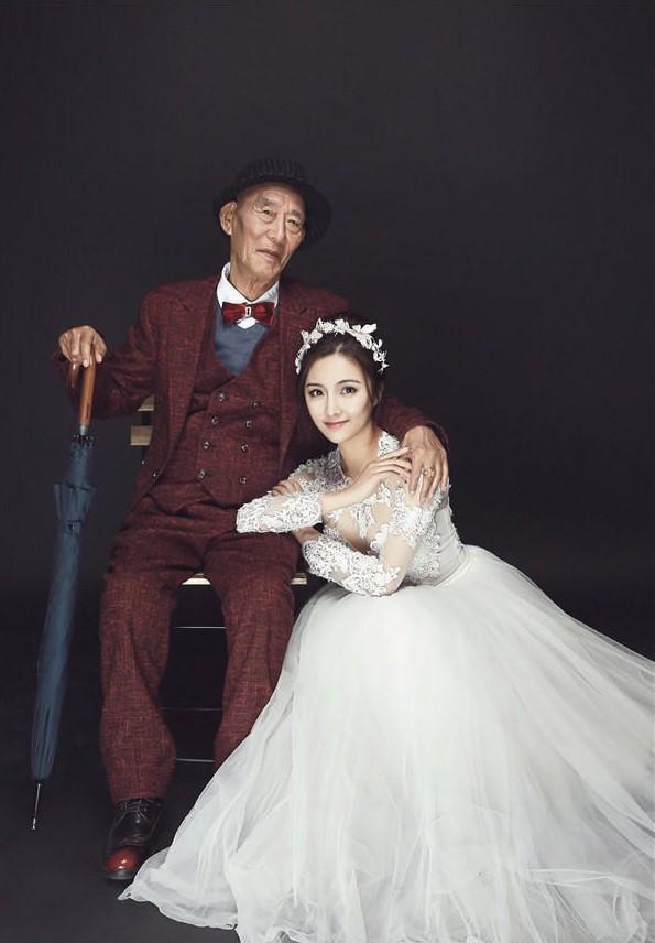 Bộ ảnh cưới của cô gái trẻ và cụ ông 87 tuổi khiến dân mạng xôn xao - ảnh 3