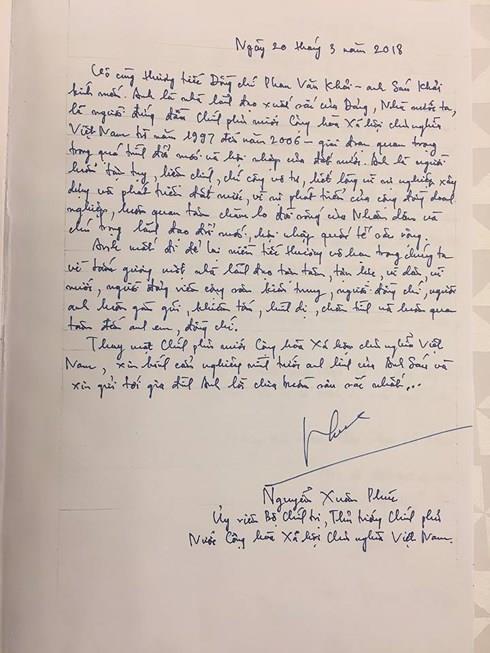 Những lời tiếc thương cố Thủ tướng Phan Văn Khải của lãnh đạo Đảng, Nhà nước trong sổ tang - Ảnh 5.