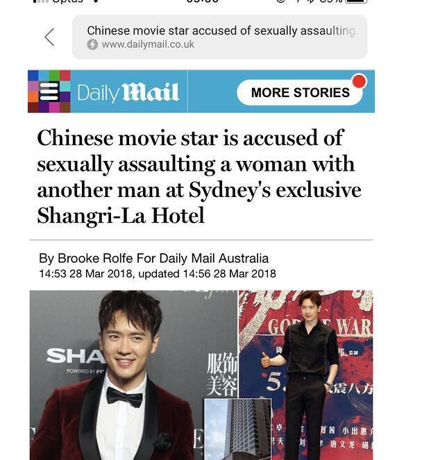 Bạn diễn của Phạm Băng Băng bị bắt vì cáo buộc hiếp dâm ở Úc - ảnh 1