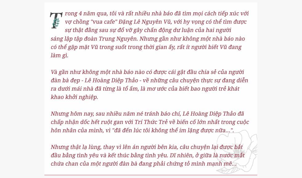 """Bà Lê Hoàng Diệp Thảo: """"49 ngày nhịn ăn đã cướp đi Đặng Lê Nguyên Vũ tuyệt vời của tôi"""" - Ảnh 1."""