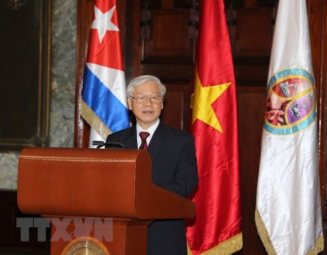 Tổng Bí thư Nguyễn Phú Trọng nhận Bằng Tiến sỹ danh dự tại Cuba - Ảnh 2.