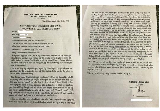 Nhân chứng vụ cô giáo quỳ xin lỗi: Quỳ 40 phút ông Thuận mới chịu - Ảnh 1.