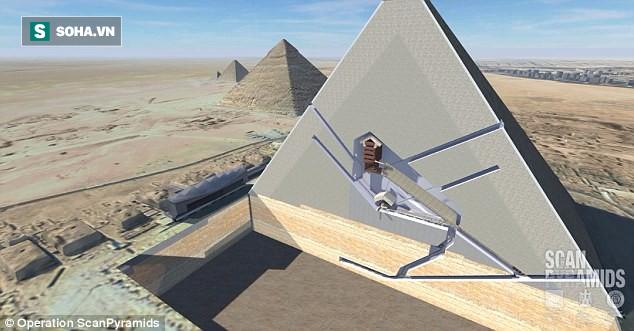 Phát hiện căn phòng lớn trong kim tự tháp Giza, nghi chứa ngai vàng bằng sắt thiên thạch - Ảnh 1.