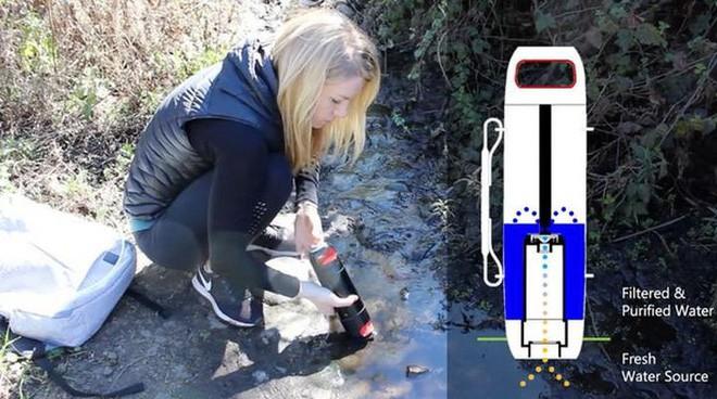 Purisoo: Chiếc bình lọc nước di động giúp bạn uống nước sạch ở bất kỳ nơi đâu trên thế giới - Ảnh 1.