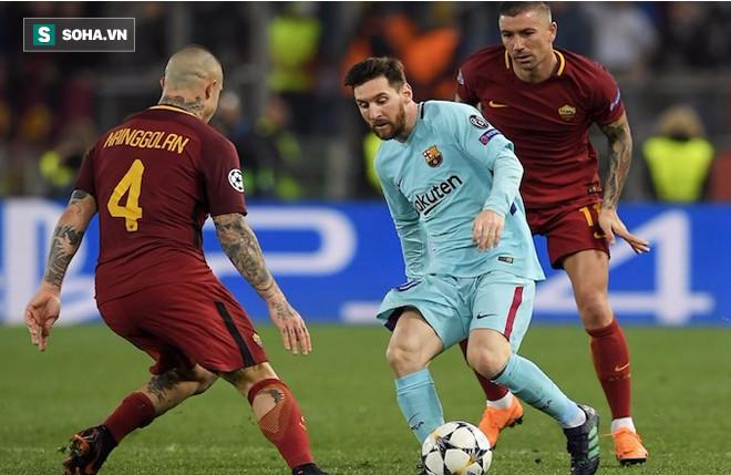Tịt ngòi ở trận thua AS Roma, Messi đã đầu hàng trước Ronaldo - Ảnh 5.