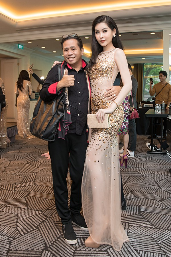 Lan Khuê tự tin đọ sắc cùng Hoa hậu Thế giới, Hoa hậu Hoàn vũ - Ảnh 9.