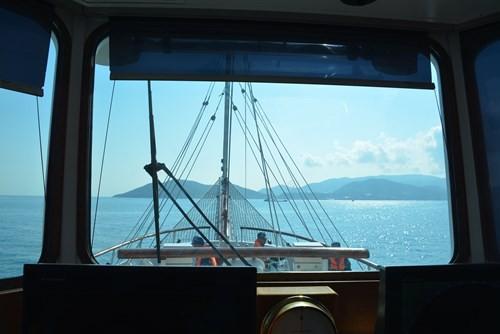 Tàu buồm Lê Quý Đôn xuất phát huấn luyện trên biển - Ảnh 10.