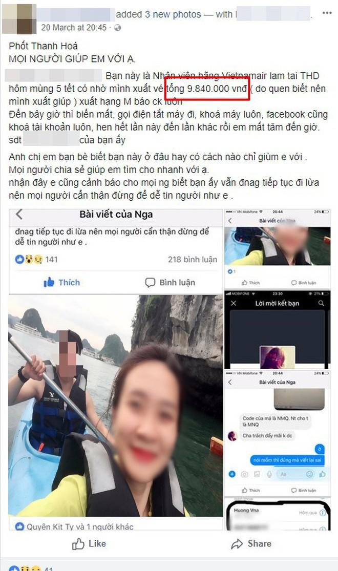 Nhiều khách hàng tố nữ nhân viên phòng vé máy bay ở Thanh Hóa bùng hàng trăm triệu đồng tiền đặt vé - Ảnh 6.