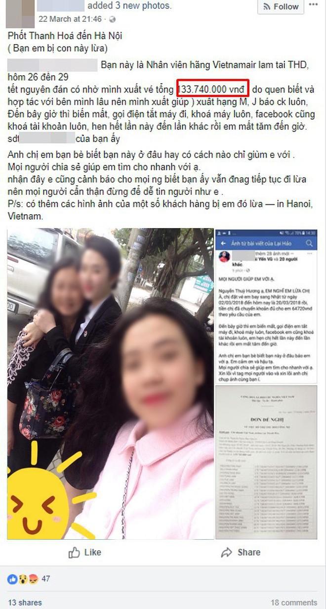 Nhiều khách hàng tố nữ nhân viên phòng vé máy bay ở Thanh Hóa bùng hàng trăm triệu đồng tiền đặt vé - Ảnh 7.