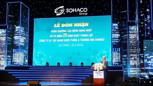 Dược phẩm SOHACO vinh dự đón nhận Huân chương lao động hạng Nhất và kỷ niệm 25 năm thành lập - Ảnh 1.