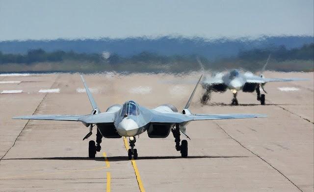 Tiêm kích tàng hình Su-57 Nga vừa hạ cánh xuống Syria, Ấn Độ lập tức tỏ thái độ gì? - Ảnh 1.