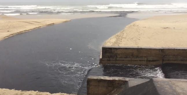 Nước thải đen ngòm tràn như suối ra biển Đà Nẵng, du khách bịt mũi rời đi - Ảnh 3.