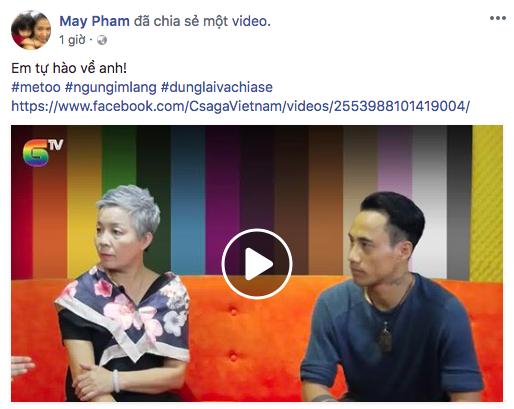 Bị cư dân mạng chỉ trích, bà xã Phạm Anh Khoa gỡ bỏ phát ngôn tự hào về anh - Ảnh 1.