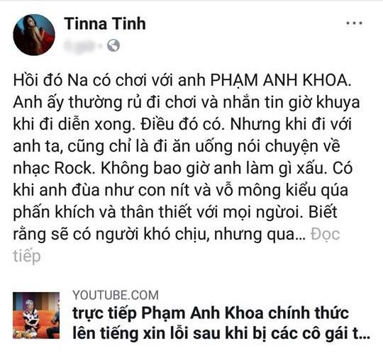 Giữa phát ngôn tranh cãi của Phạm Anh Khoa, Tina Tình lên tiếng: Anh ấy chỉ là quậy phá, không có ý xấu - Ảnh 2.