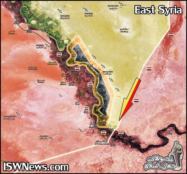 Quân đội Syria, SDF vây khốn IS trên bờ đông Euphrates - Ảnh 1.