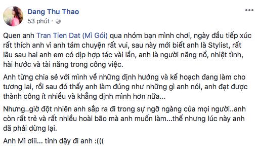 H'Hen Niê, Đặng Thu Thảo, Văn Mai Hương bàng hoàng trước tin Mì Gói qua đời ở tuổi 27 - ảnh 3