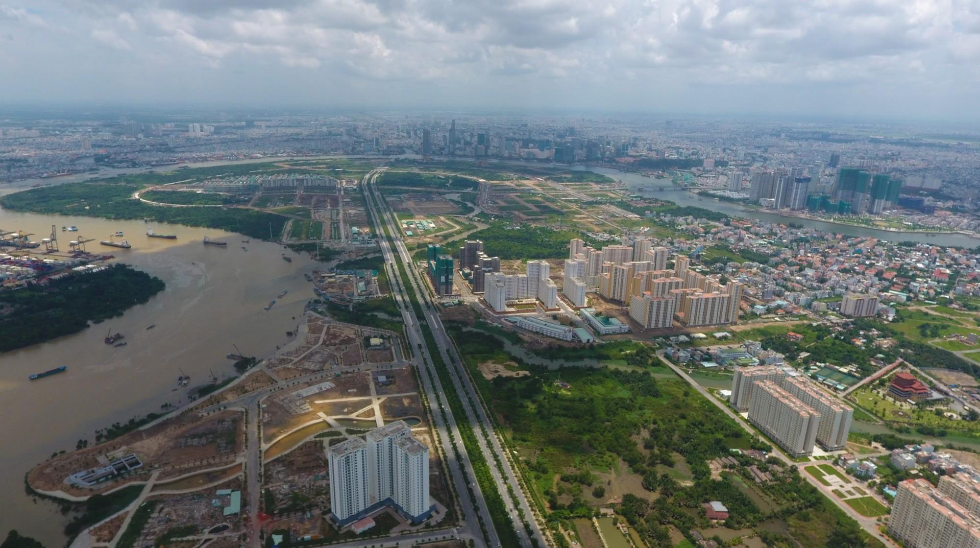 Diện mạo bán đảo Thủ Thiêm - khu đô thị đẹp nhất Sài Gòn nhìn từ trên cao - Ảnh 1.