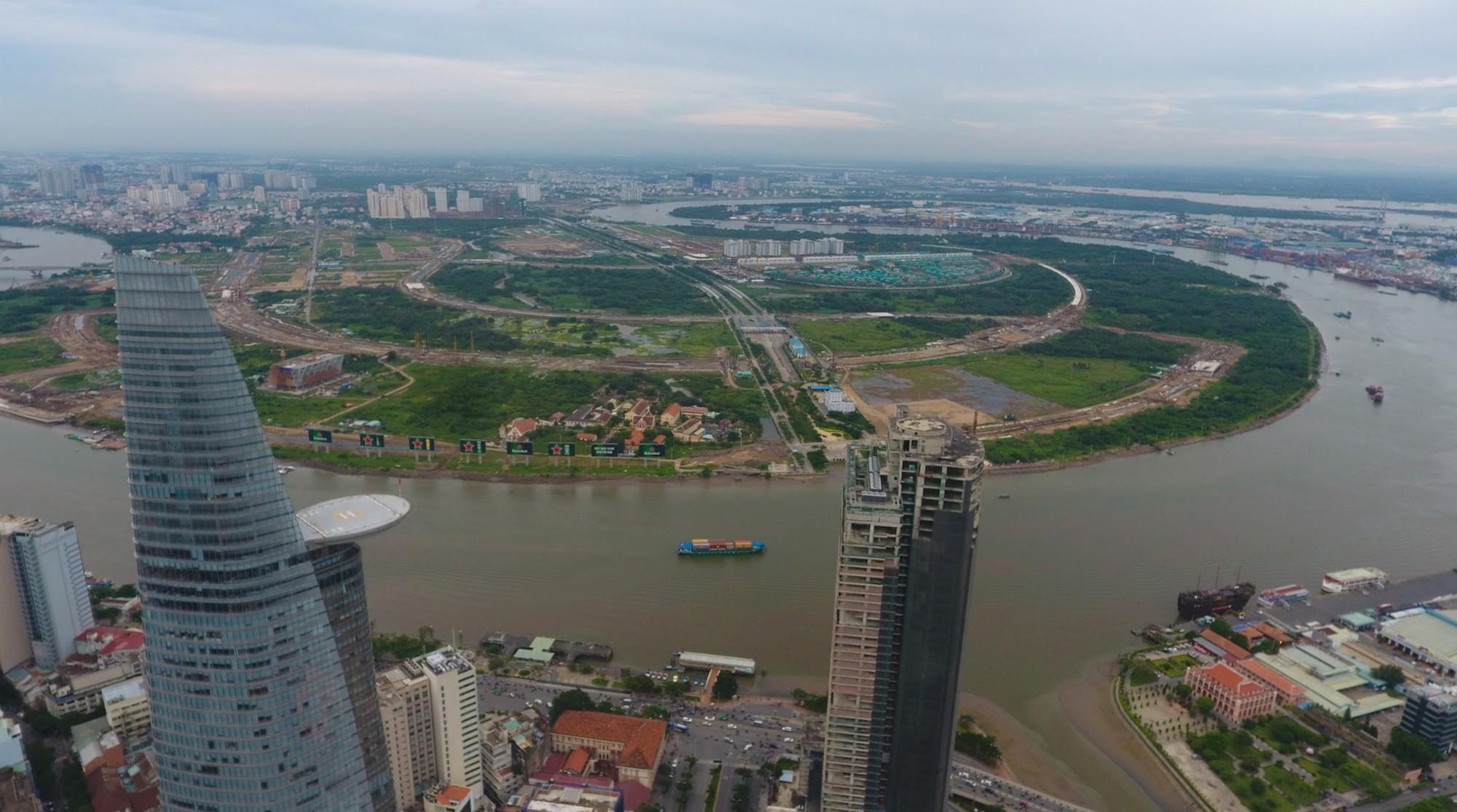 Diện mạo bán đảo Thủ Thiêm - khu đô thị đẹp nhất Sài Gòn nhìn từ trên cao - Ảnh 4.