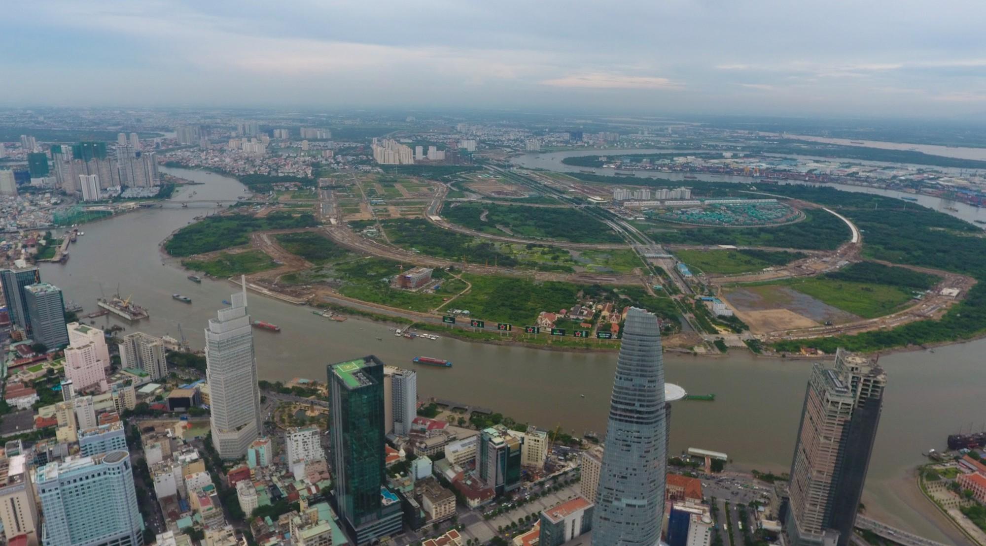 Diện mạo bán đảo Thủ Thiêm - khu đô thị đẹp nhất Sài Gòn nhìn từ trên cao - Ảnh 3.