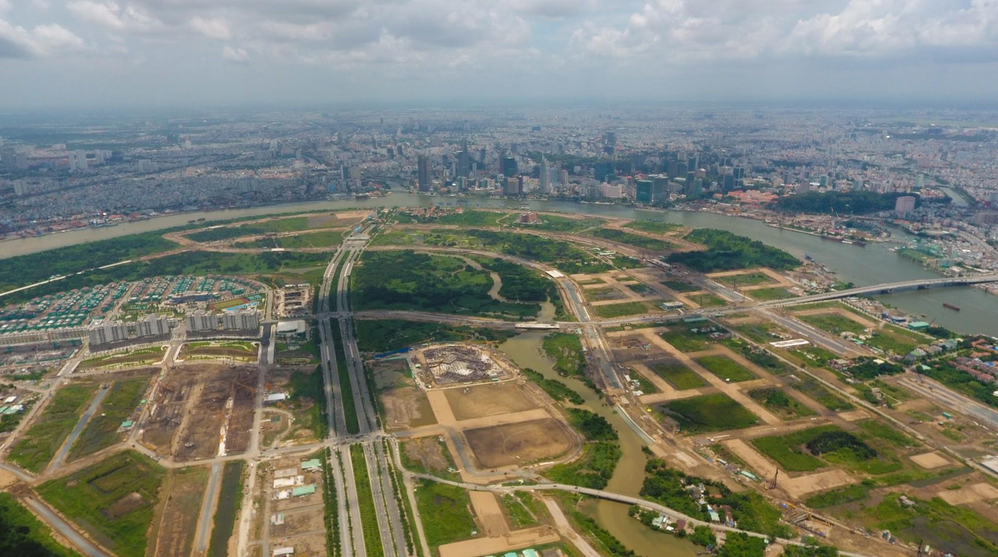 Diện mạo bán đảo Thủ Thiêm - khu đô thị đẹp nhất Sài Gòn nhìn từ trên cao - Ảnh 8.