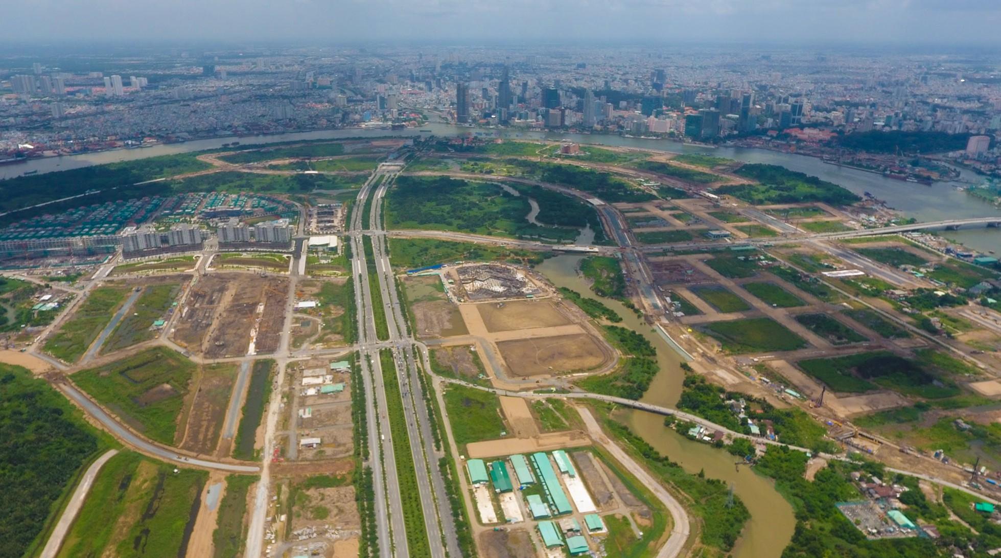 Diện mạo bán đảo Thủ Thiêm - khu đô thị đẹp nhất Sài Gòn nhìn từ trên cao - Ảnh 12.